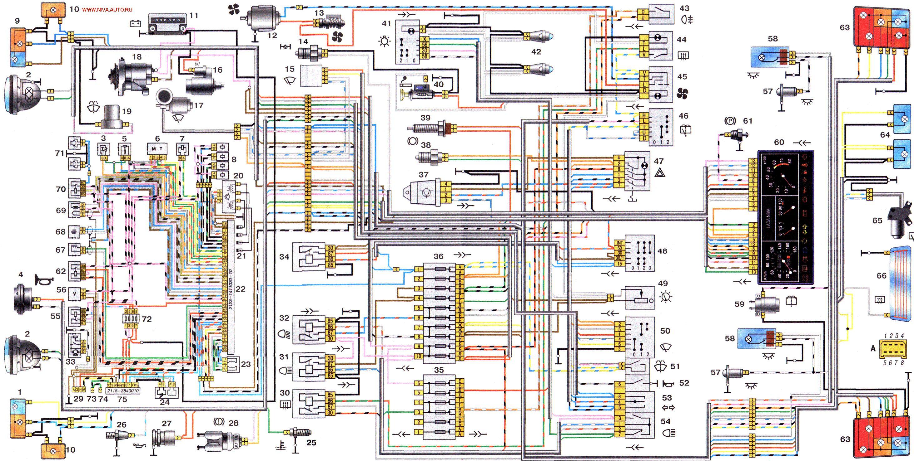 Электрическая схема 21214 инжектор фото 470