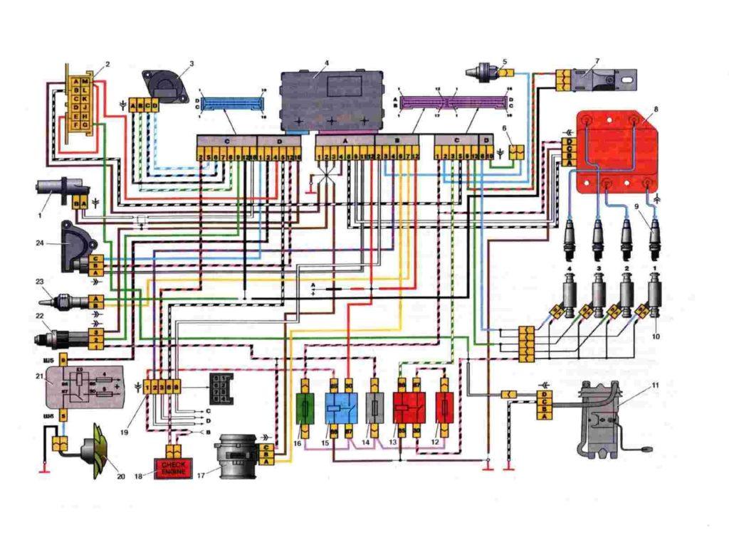 2109 elektromos kapcsolási rajz