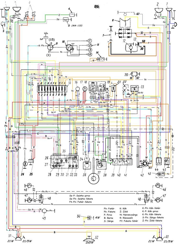 2101 elektromos kapcsolási rajz