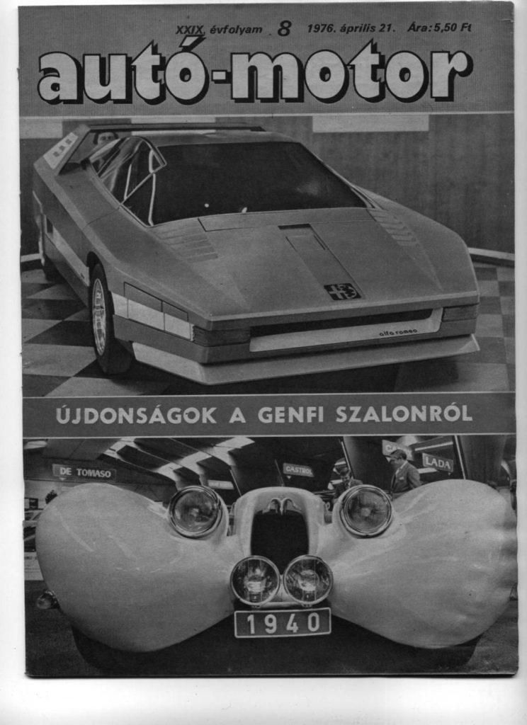 Korabeli autó-motor cikk 1976.04.21 Alfa Romeo