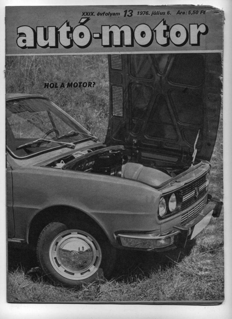 Korabeli autó motor cikk 1976.07.06