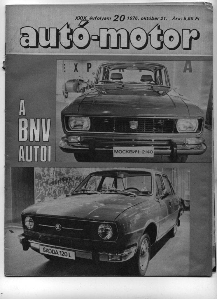 Korabeli autó motor cikk 1976.10.21