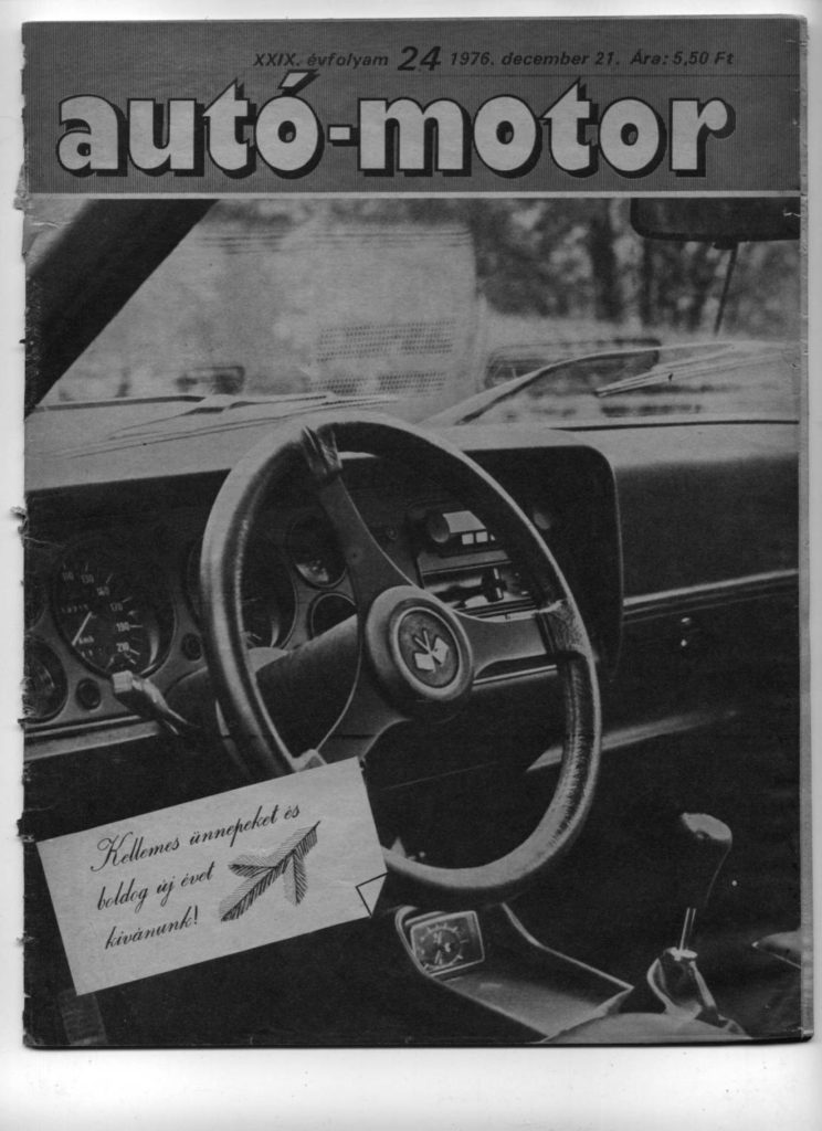 Korabeli autó motor cikk 1976.12.21