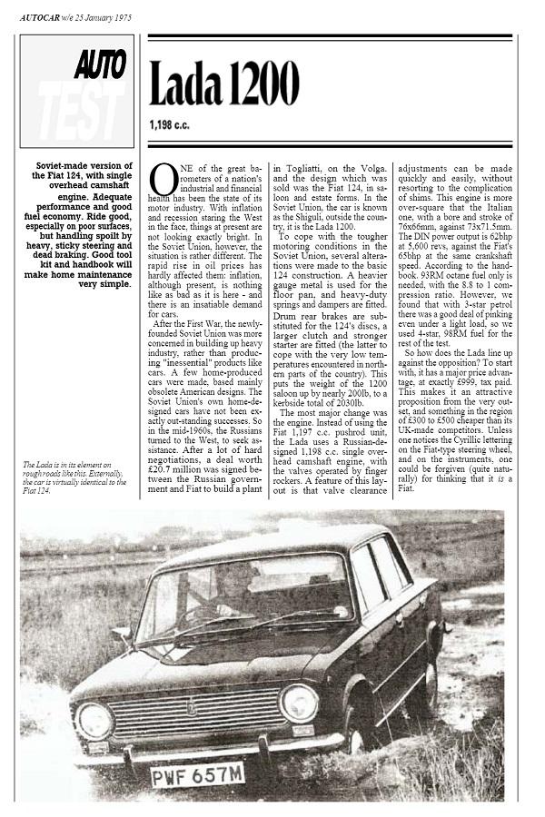 AUTOCAR 1975 01 25 Lada 1200