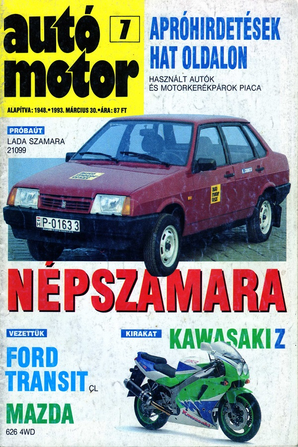 A2 Samara 21099 teszt 1993.03.30.